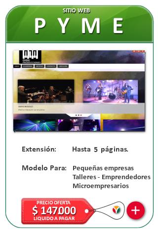 Paginas Web PYME Diseño web en Chile por Nicosoft.net