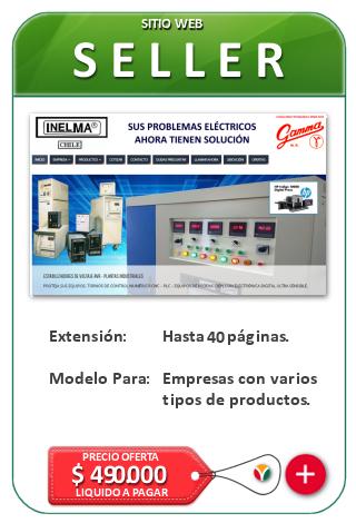 Paginas y Sitios Web Seller para medianas empresas. Diseño de Páginas web corporativas Nicosoft.net Chile