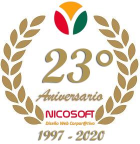 Diseño de Páginas Web NICOSOFT - 23° Aniversario