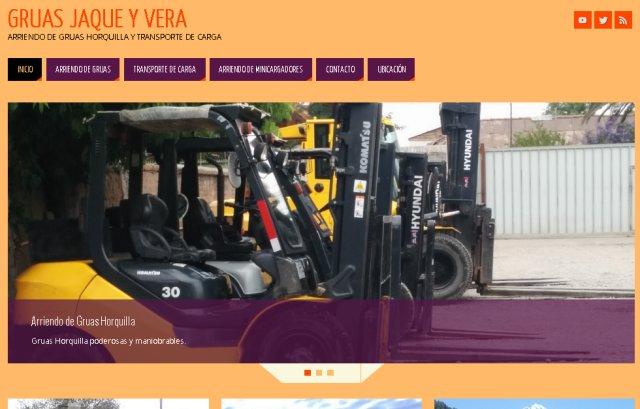 Diseño web Corporativo -Gruas Jaque y Vera