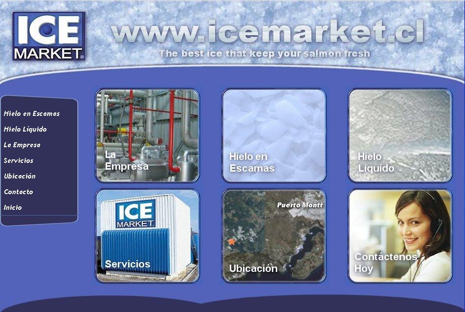 Sitios web corporativos Ice Market