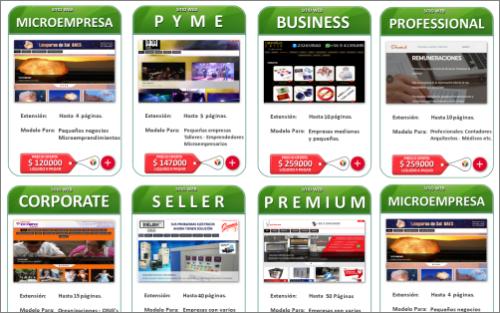 páginas web, sitios web, Diseño web Corporativo en Chile. Elija el modelo más adecuado a su empresa y presupuesto.