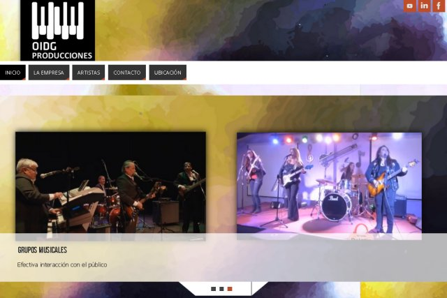 Páginas web de Productora de Artistas