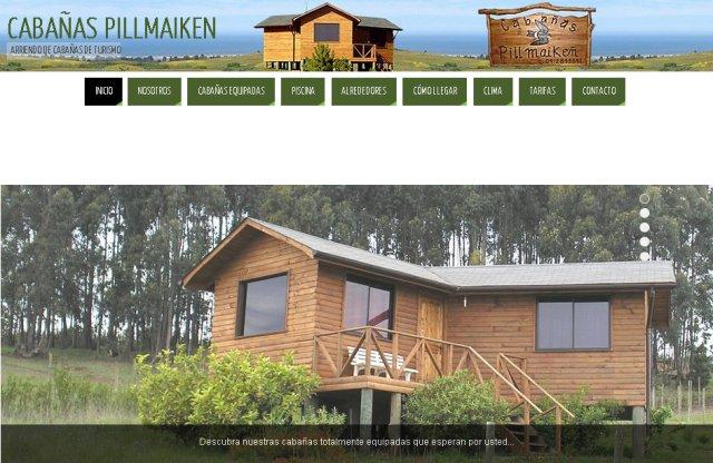 cabañas pillmaiken - paginas web